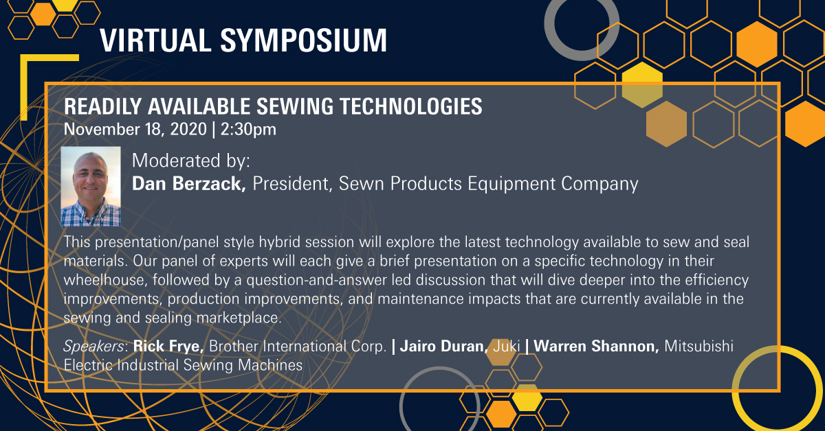 Join Us at Texprocess Americas Virtual Symposium: Readily Available Sewing Technologies